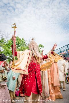 Indian groom at his baraat.