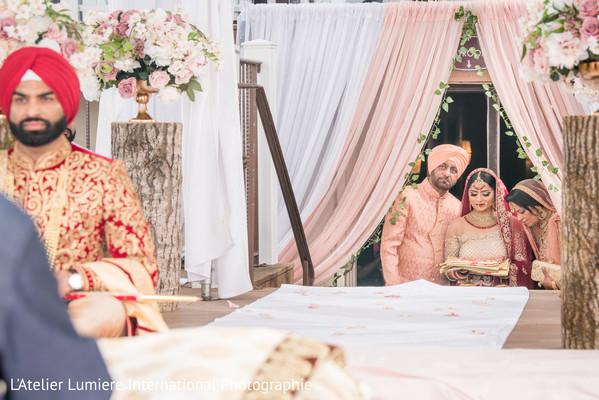 Indian bride entering to her ceremony capture.