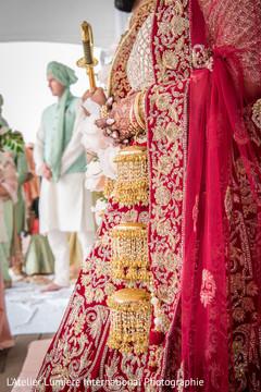 Closeup capture of Indian bridal Kalire.