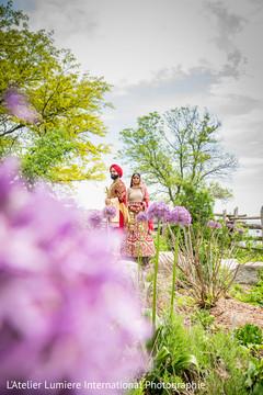 Sweet Indian couple outdoor capture.