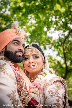 Radiant indian couple photo shoot.