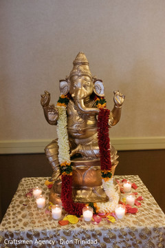 Statue of Ganesha at the Indian wedding venue