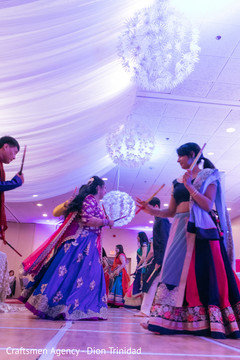 Indian wedding guests sharing a good time