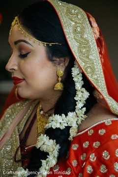 Makeup details of Maharani before the ceremony