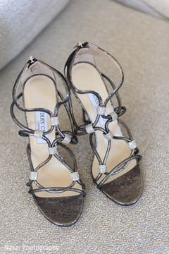 Elegant shoes used by the Indian bride