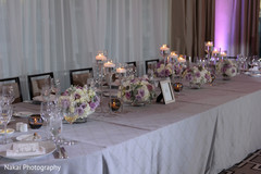 Indian wedding reception table detail