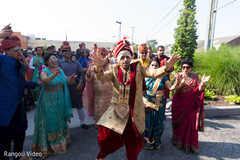 Raja showing some dance moves at the Baraat