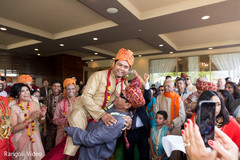 Indian guests having a great time during the baraat