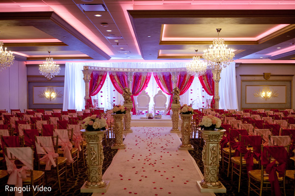Design of the Indian wedding ceremony venue