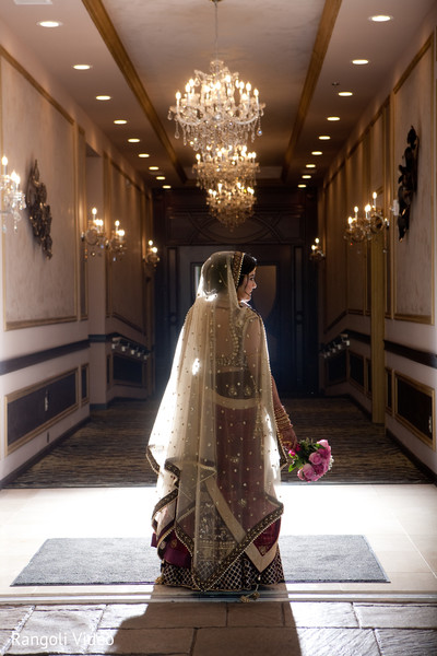 Incredible shot of Indian bride prior to the ceremony