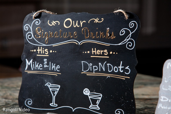 Lovely sign at the Indian wedding venue
