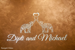 Talented design with the Indian couple's names
