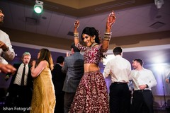 Gorgeous Maharani dancing at the reception
