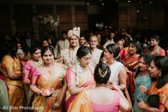 Indian groom making his arrival with guests