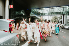 Indian guests during the fun baraat
