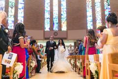 Indian bride making her dazzling entrance