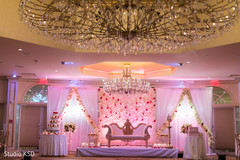 See this Indian wedding floral and lightning decor