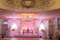 Indian wedding lightning and floral decor