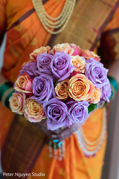Colorful Indian wedding bridals bouquet.