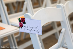 Lovely Indian wedding ceremony seats reservation.