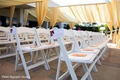 Perfect Indian wedding ceremony seats set up.