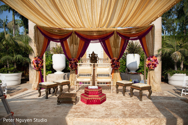 Incredible Indian wedding ceremony decoration.