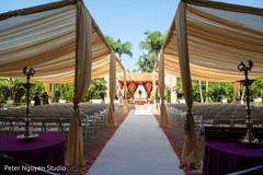 Stunning Indian wedding  aisle.