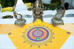 Indian wedding Ganesha Puja closeup capture.