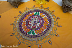 Stunning Indian wedding personalized table mat.
