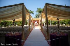 Incredible Indian wedding ceremony decoration capture.