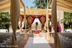 Stunning Indian wedding mandap decoration.