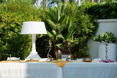 Indian wedding ceremony table setup.
