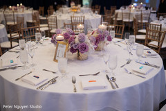 Magnificent setup for Indian wedding reception table.