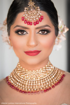 Traditional indian wedding ceremony makeup look.