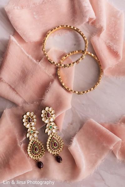 Indian bridal ceremony jewelry.