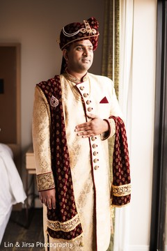 Indian groom ready for wedding ceremony.