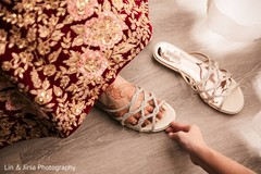 Phenomenal indian bride's shoes capture.