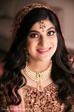 Majestic indian bridal makeup.