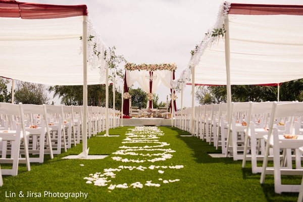 Stunning Indian ceremony wedding aisle.