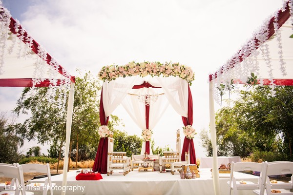 Dreamy mandap flower decoration.