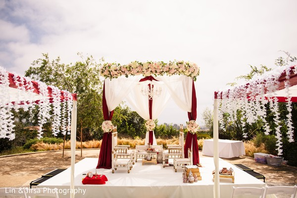 indian wedding ceremony,mandap,flowers decor