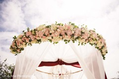 Incredible flower garland mandap decoration.