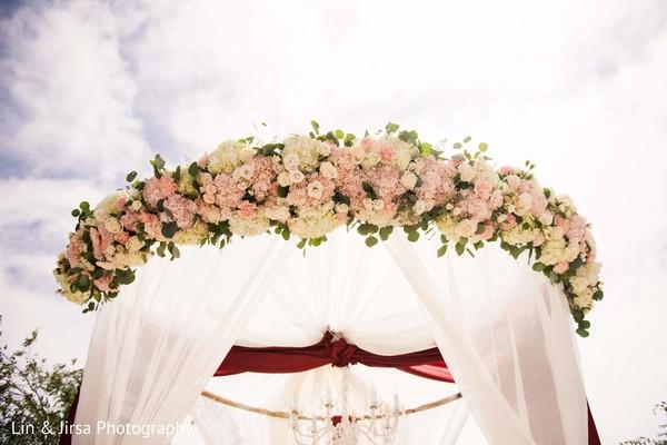 Incredible flower garland mandap decoration.