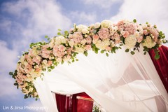 Magnificent Indian wedding ceremony mandap flower decor.