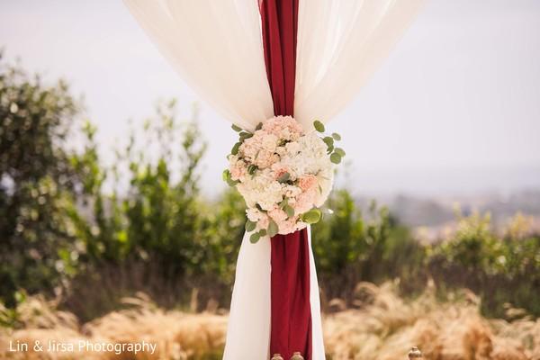 Fascinating Indian wedding mandap flowers decoration.