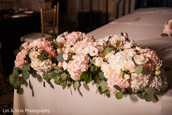 See this dream indian wedding reception flowers decor.