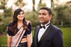 Elegant Indian groom outdoor photo shoot.