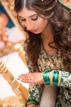 Maharani admiring her mehndi design