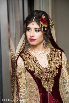 Beautiful Indian bride with her beautiful lengha