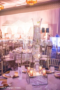 Elegant Indian wedding table design